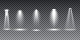 Освещение сцены большого собрания реалистическое белое на прозрачной предпосылке иллюстрация штока