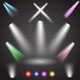 Освещение сцены, прозрачный цвет влияний Стоковое Изображение RF