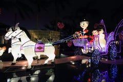 Освещение шаржа фуры лошади Стоковые Изображения RF