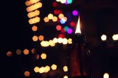 Освещение Eid Mubarak Стоковое Фото
