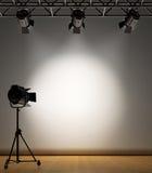 освещенная стена пятна Стоковое фото RF