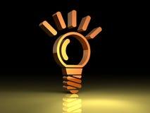Освещенная электрическая лампочка Стоковые Фотографии RF