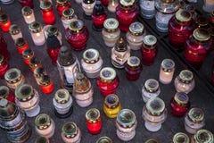 освещенные свечки Стоковые Изображения