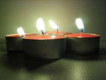 освещенные tealights Стоковые Фото