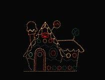 освещенный коттедж Стоковые Фото