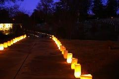 освещенный путь Стоковое фото RF