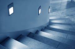освещенный stairway стоковые фото