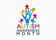 осведомленность аутизма иллюстрация вектора