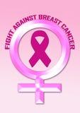 Осведомленность рака молочной железы боя стоковое изображение