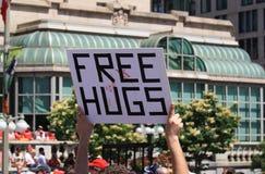 освободите знак публики hugs стоковое изображение rf