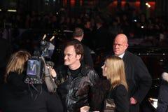 Освобожданные Quentin Tarantino - Django - премьера стоковые фото