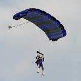 Освободите parachutist падения стоковое фото