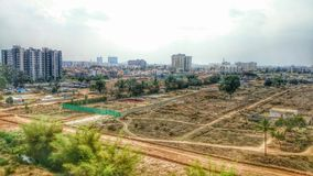 Освоение земель города Стоковое Фото