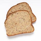 Осемененные ломтики хлеба стоковое фото