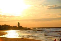 осенние солнца западные Стоковые Изображения