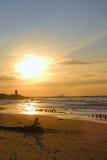 осенние солнца западные стоковые изображения rf