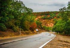 Осенний ландшафт зоны Kakheti Стоковые Изображения RF