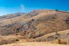 Осенний пейзаж в природном заповеднике Babuhan Yaila Стоковые Фотографии RF