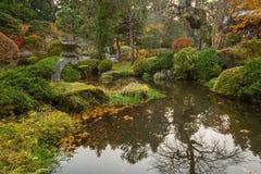 Осенний пейзаж национального парка Nikko Стоковое фото RF