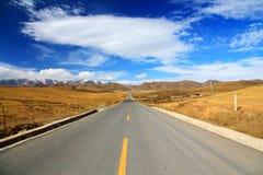 Осенний пейзаж плато Цинхая - Тибета Стоковые Фотографии RF