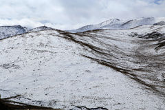 Осенний пейзаж плато Цинхая - Тибета Стоковые Изображения RF