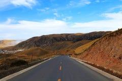 Осенний пейзаж плато Цинхая - Тибета Стоковое фото RF