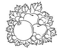 Осенняя хлебоуборка иллюстрация вектора