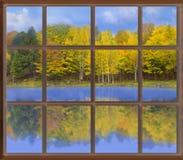 осенн повсеместно в окно Стоковые Изображения