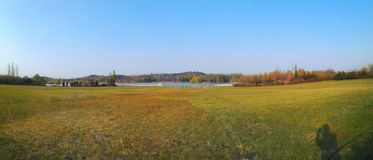 Осень, ландшафт падения панорамный Стоковые Изображения