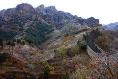 Осень Великой Китайской Стены Стоковое Фото