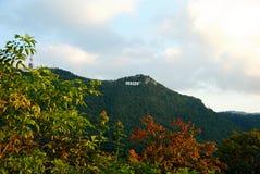 Осень вокруг знака Brasov стоковая фотография