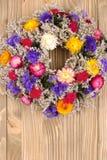 осень высушила венок цветков Стоковая Фотография