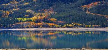 Осень в двойных озерах Колорадо Стоковые Изображения