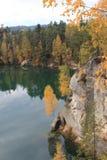 Осень в горах Teplice Стоковая Фотография