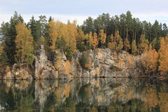 Осень в горах Teplice Стоковое Изображение