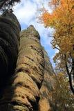 Осень в горах Teplice Стоковые Фото