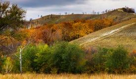 Осень в горах Zhiguli Стоковая Фотография