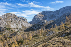 Осень в горных вершинах tha Стоковые Фотографии RF