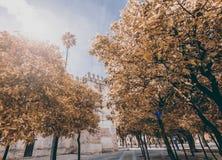 Осень в городе, Jerez, Испания Стоковые Изображения