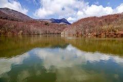 Осень в озере Санта-Фе, Montseny Испания Стоковые Изображения