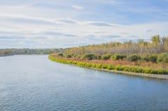 Осень в парке заводи рыб Стоковая Фотография
