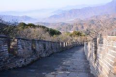 Осень в Пекине Великая Китайская Стена Mutianyu Стоковое фото RF