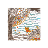 Осень в древесинах Стоковые Изображения RF