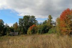 Осень в русской деревне, зона Yaroslavl стоковые изображения rf