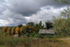 Осень в русской деревне, зона Yaroslavl Стоковые Фото