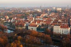 Осень в старом городке Klaipeda, Литвы Стоковые Изображения RF