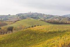 Осень в Тоскане, Италии стоковые фото