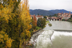 Осень в Bassano del Граппе, Италии Стоковое Фото