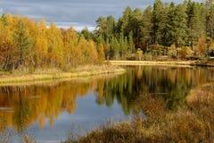 Осень в Klutsjön Стоковые Фотографии RF