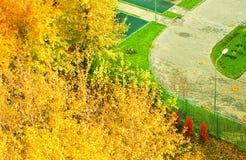 Осень городка Стоковая Фотография